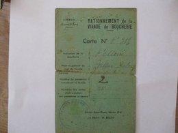 RATIONNEMENT DE LA VIANDE DE BOUCHERIE CARTE COMMUNE D'ESTREES-SAINT-DENIS FEVRIER 1941 LE MAIRE M. BELLOY - Historical Documents