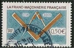 2003 Yt 3581 (o) Franc-maçonnerie - France