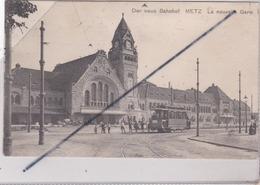 Metz (57) Der Neus Bahnhof / La Nouvelle Gare (Extérieure) Tramway En Premier Plan) - Metz