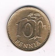 10 PENNIA  1968 FINLAND /5701/ - Finlande
