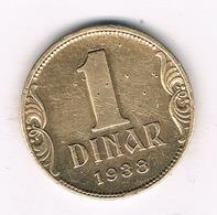 1 DINAR  1938 SERVIE /5703/ - Serbie