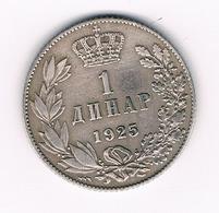 1 DINAR  1925 SERVIE /5705/ - Serbie