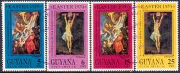 GUYANA 1970 SG 519-22 Compl.set Used Easter - Guyana (1966-...)