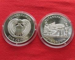 Isle Of Man 2 X 1 Crown 2008 Tutankhamun - Monnaies Régionales