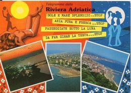 Telegramma Dalla RIVIERA ADRIATICA - Vedute - Italia