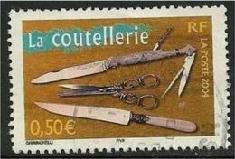 2004 Yt 3646 (o) Portrait De Régions La Coutellerie De Thiers - Usados