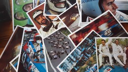 16 Photos PUBLICITE COLLECTION ELF  COMPETITION  70 - FORMULE 1- CHAMPIONS SIGNATURES  Pescarolo,Vinatier,Jabouille,Belt - Automobilismo - F1