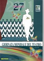 ITALIA 2011 - FOLDER   GIORNATA MONDIALE DEL TEATRO  -   SENZA SPESE POSTALI - 6. 1946-.. Republic