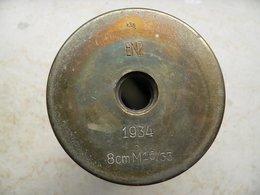 Douille Obus De 8 Cm M16/33 Datée 1934 Neutralisée - Armi Da Collezione