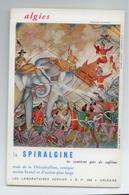 ANNEES 50 BUVARD LABORATOIRES SERVIER ORLEANS SARPAGAN ELEPHANT BE VOIR SCAN - Droguerías