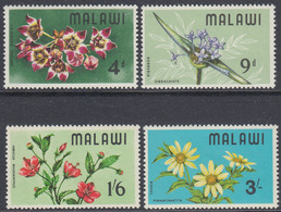 Malawi 1968 - Endemic Wild Flowers - Mi 80-83 ** MNH - Malawi (1964-...)