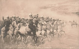 Art Peinture Peintre A. Paris Salon 1901 Tableau Après La Manoeuvre , Soldat Militaire Cavalier Clairon - Pintura & Cuadros