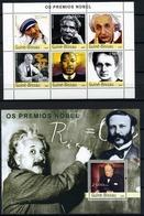 GUINEA-BISAU 2003 GB206 Nobel Prize Winners. Mother Teresa A. Einstein. Martin Luther King Marie Curie A Fleming. Church - Albert Einstein
