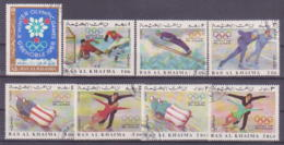 72-500 / RAS AL KHAIMA   - 1968   WINTER OLYMPIC GAMES  GRENOBLE  Mi 209/16 O - Ras Al-Khaima