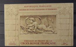 Carnet Croix Rouge De 1952 - Rare - ** - MNH - Superbe - Cote : 550 Euros - Red Cross