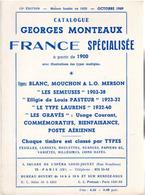 Catalogue FRANCE Spécialisée Georges MONTEAUX 1969 : à Partir De 1900 - 13e édition - Frankrijk