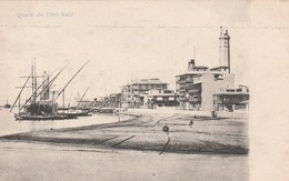 Egypte - Port  Saïd  - Quais  - Scan Recto-verso - Port Said