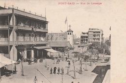 Egypte - Port  Saïd  - Rue De  Lesseps- Scan Recto-verso - Port Said