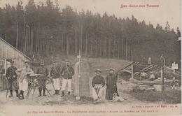 CPA Les Cols Des Vosges - Au Col De Sainte-Marie - La Frontière Bien Gardée - Avant La Guerre De 1914-1915 (belle Scène) - France