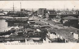 Egypte - Port  Saïd  - Vue De Port Saïd Et Entrée Du Canal De Suez - Scan Recto-verso - Port Said