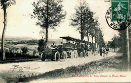 14148  Hte Marne  - LES EXPERIENCES DU TRAIN RENARD EN Hte MARNE -  Postée à CHAUMONT  Circulée En 1909 - Chaumont