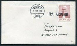1980 Faroe Islands / Denmark FRA FAEROERNE Cover - Copenhagen. Slania Europa - Faroe Islands