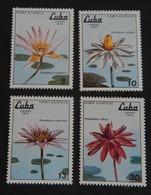 """CUBA YT 2105//2108 NEUFS**MNH"""" NÉNUPHARS"""" ANNÉE 1979 - Neufs"""