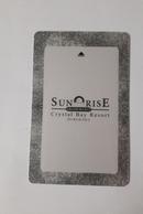 HOTEL KEY CARD - (  SUNRISE BAY HOTEL )  BURGHADA - Hotelkarten