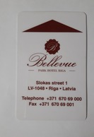 HOTEL KEY CARD - (  BELLEVUE PARK HOTEL )  LATVIA RIGA - Cartes D'hotel