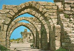 CESAREA-ANCIENT ARCH WAY- VIAGGIATA 1972 - Israele