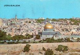 JERUSALEM-SEEN FROM MT. OLIVES- VIAGGIATA 1968 - Israele