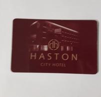 HOTEL KEY CARD - (  HASTON CITY HOTEL ) - Hotelsleutels (kaarten)