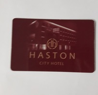 HOTEL KEY CARD - (  HASTON CITY HOTEL ) - Cartes D'hotel