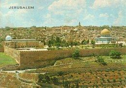 JERUSALEM-SEEN FROM MT. OF OLIVES- VIAGGIATA 1978 - Israele