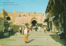 JERUSALEM-OLD CITY-VIEW TO DAMASCUS GATE- VIAGGIATA 1973 - Israele