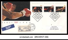 AUSTRALIA - 1988 OLYMPIC GAMES SEOUL - 3V - FDC REGISTERED - Unclassified