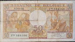 Belgium 50 Francs 1956  03-04-1956 - [ 2] 1831-... : Regno Del Belgio