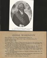 J) 1899 UNITED STATES, GEORGE WASHINGTON, ALEXANDRIA WASHINGTON LODGE, THE MASONIC PORTRAIT BY WILLIAM J WILLIAMS, XF - Unclassified