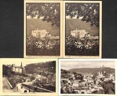 Clerf Clervaux - Lot 4 Cartes Du Château (dont Une Café Bertemes-Putz) - Clervaux