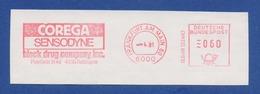 BRD AFS, Gebühr Bezahlt - FRANKFURT AM MAIN, Corega Sensodyne - Block Drug Company Inc. 1981 - Salute