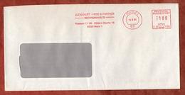 Brief, Pitney Bowes E22-1130, Luckhaupt Hess & Partner, 100 Pfg, Mainz 1991 (77117) - [7] Repubblica Federale
