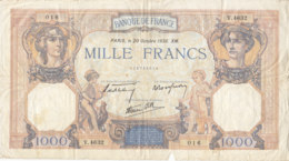 Billet 1000 F Cérès Et Mercure Du 20 Octobre 1938 FAY 38.30 Alph. V.4632 - 1871-1952 Circulated During XXth