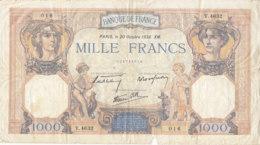 Billet 1000 F Cérès Et Mercure Du 20 Octobre 1938 FAY 38.30 Alph. V.4632 - 1871-1952 Anciens Francs Circulés Au XXème