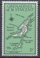 Gredanines Of St. Vincent 1976 - Bequia Island Map - Mi 83 ** MNH - St.-Vincent En De Grenadines