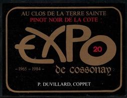 Etiquette De Vin // Pinot Noir De La Côte, Expo De Cossonay - Etiquettes