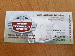 Lithuania Litauen Ticket Technical  Museum 2019 - Tickets - Entradas