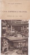 8 Postcard Set , C.P.S. EMPRESS Of FRANCE , 1920-30s - Steamers