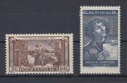 Polen / Polska 1953 Nikolaus Kopernikus Warschau Mi.-Nr. 805-06**  - Polonia