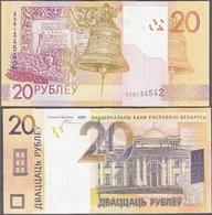 BELARUS 20 Rubles P 39 Replacement XX Serial 2009 ( 2016 )  UNC - Bielorussia