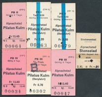 SWITZERLAND QY4894 Alpnachstad 1963-73  Pilatus Kulm Stansstad 7 Fahrkarte Billet Ticket Suisse - Bahn